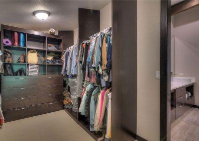 Closet Cabinets Dark Wood