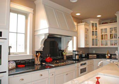 White Kitchen Cabinets White Oven Hood