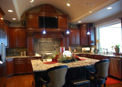 Royal Cabinets Dark Wood Kitchen Cabinets